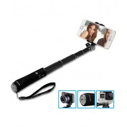 ZAAP NUSTAR1 Bluetooth Extendable Premium Selfie Stick with In-built Remote Shutter - 4000+ clicks per charge - For iPhone, An