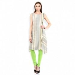 W Multicoloured Cotton Straight Kurti