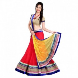 Anu Clothing Red Net Lehenga