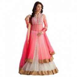 Five Star Fashion Pink Net Lehenga