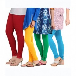 Tjaggies Multicolor Stylish  Leggings - Set Of 4