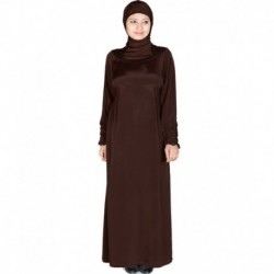 Zehna Brown Abaya Fit for Casual Wear