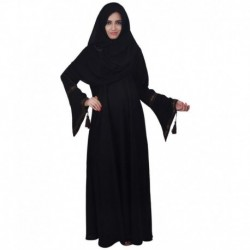 Dubai Abaya Black Stitched Burqas with Hijab