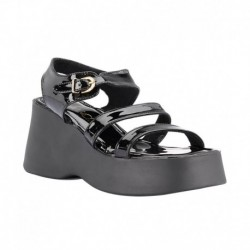 Catwalk Black Heeled Sandals