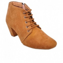 Leather Wood Tan Ankle Length Boots