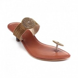 Catwalk Brown Heeled Slip On