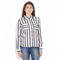 Vero Moda White Striped Shirt