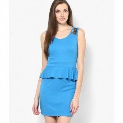 Vero Moda Blue Casual Peplum Dress