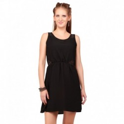 Sepia Black Party Dress