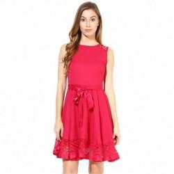 The Vanca Fuchsia Georgette Dresses