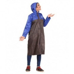Allwin Brown Polyester Long Raincoat