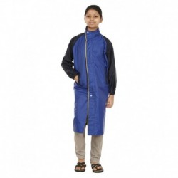 Rainfun Blue and Black Long Raincoat