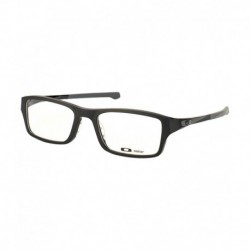 Oakley OX-8039-01-51 Chamfer  Classy Black Unisex Rectangular Eyeglasses Frame with Carry Case.
