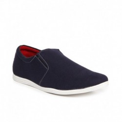 Zapatoz Navy Slip-on Shoes