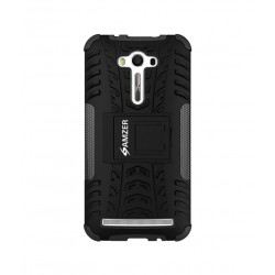 Amzer Hybrid Warrior Case - Black/ Black for Asus Zenfone 2 Laser ZE550KL