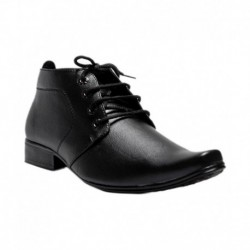 Gmerd Black Synthetic Leather Formal Shoes