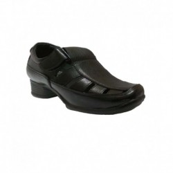 Bata Black Leather Stylish Sandals For Men