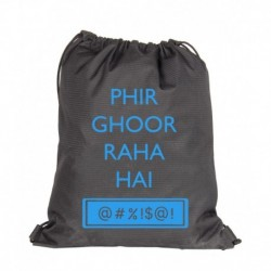 Campus Sutra Phir Ghoor Raha hai Black Backpack