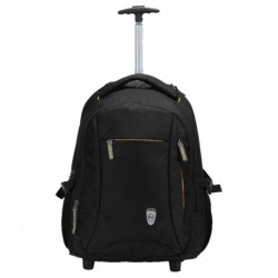 Novex Pacific Black 47 Nylon Trolley Backpack