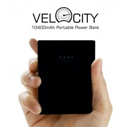Portronics Velocity 10400 mAh Power Bank - Black