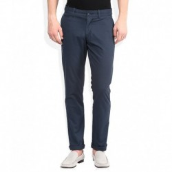 Original Penguin Navy Blue Solid Chinos