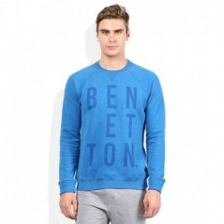 United Colors Of Benetton Blue Solid Sweatshirt