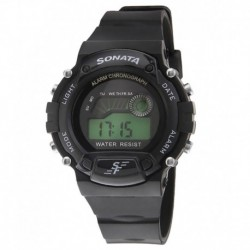 Sonata 7982PP03 Black Digital Watch