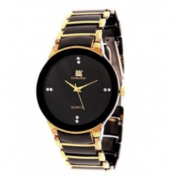Iik Collection Black Steel Analog Watch