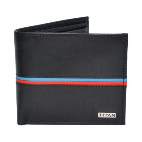 Titan Black Leather Formal Wallet