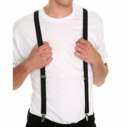 Civil Outfitters Black Polyester Slim Suspender