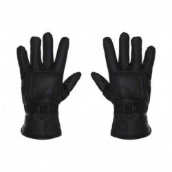 Selfieseven Black Leather Gloves