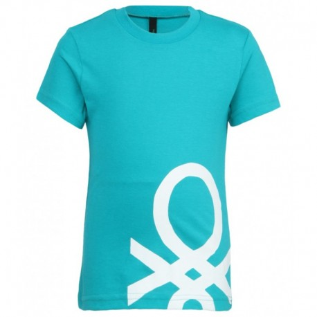 United Colors of Benetton Turquoise Printed T-Shirt