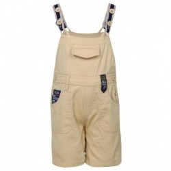 Little Kangaroos Beige Dungaree Sets