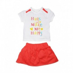 Mini Klub Coral Top And Skirt Set