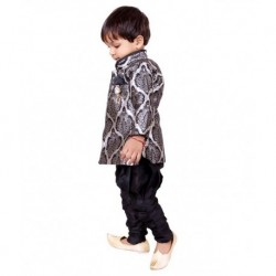ny Toon Black Kurta Pyjamas For Boys