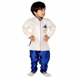 ny Toon White Synthetic Kurta Pyjama