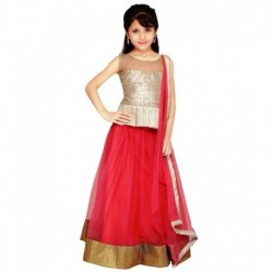 Najara Fashion Pink Net Lehenga Choli And Dupatta
