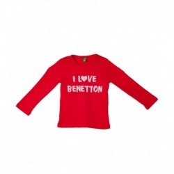United Colors of Benetton Red Cotton Long Sleeve T-Shirt