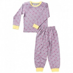 Snuggles Pink & Yellow Cotton Top & Pyjamas Set