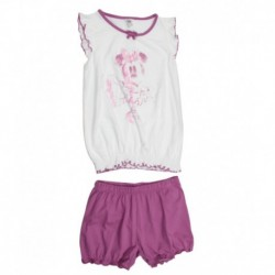 Disney White T-Shirt And Short Set