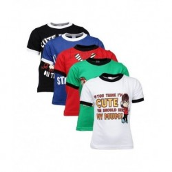 odway Attitude Themed Pack of  5 T-Shirts For Boys