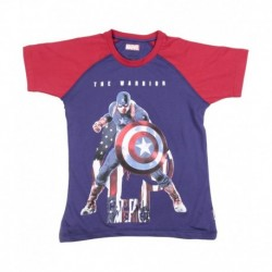 Avengers Purple & Red Half Sleeve T-shirt For Boys