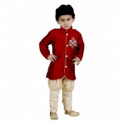 Vastramay Red Kurta Pajamas For Boys