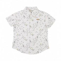 Nauti Nati White Half Sleeves Shirt