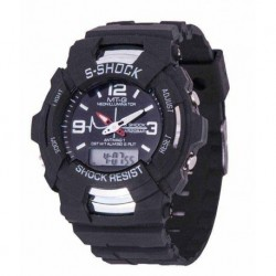 Mt-G Black Analog-Digital Sports Watch