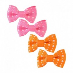 Sarah Pink And Orange Metal Clip - 4 Piece
