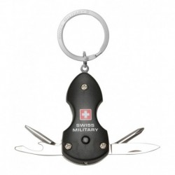 Swiss Military Black Multifunctional Keychain
