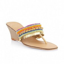 Catwalk Multi Colour Wedge Heeled Slip-Ons