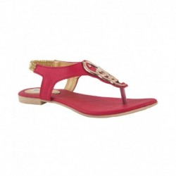 Pink Fever Pink Pu Womens Floater Sandal