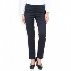 Wills Lifestyle Navy Slim Fit Trousers